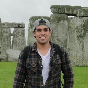 John Palomo at Stonehenge
